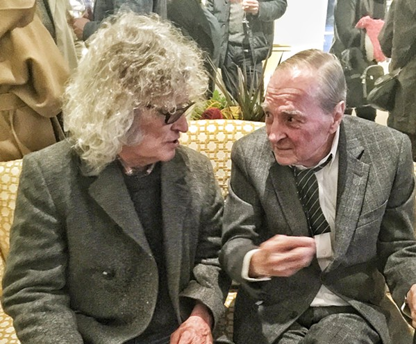 "It was great hanging out with the great William Eggleston at a reception prior to his show, ""William Eggleston and Jennifer Steinkamp: At Home at the Dixon,"" at Dixon Gallery and Gardens."
