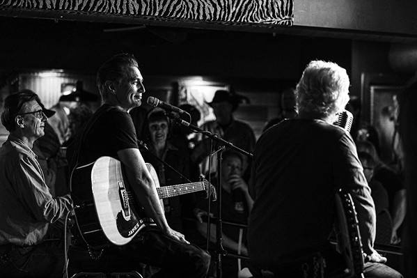 James Intveld joined Dale Watson and band during the Saturday afternoon show. - JAMIE HARMON