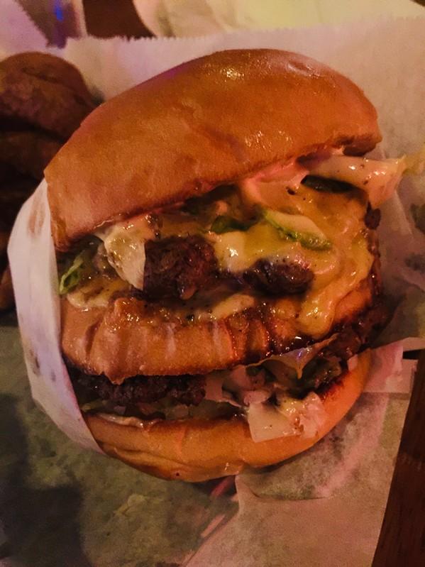 Ameripolitan burger at Hernando's Hide-A-Way - MICHAEL DONAHUE
