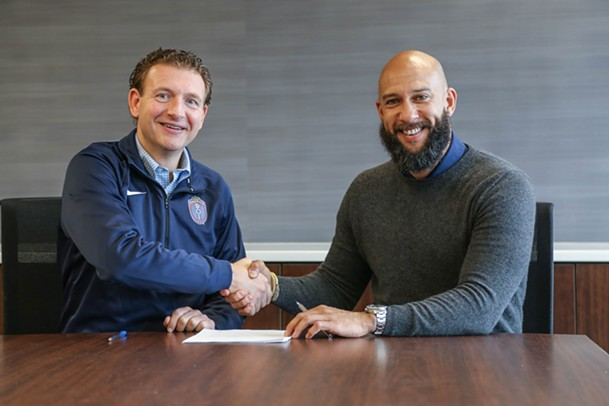 Craig Unger and Tim Howard - 901 FC