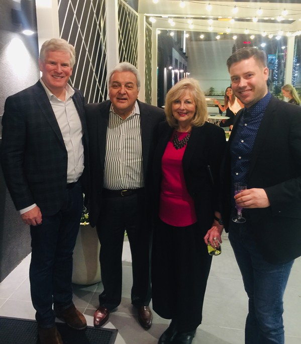 Gregory Averbuch, Noe Cerrato, Susan Covington, Ryan Marsh at Moxy Coming Out VIP Party. - MICHAEL DONAHUE