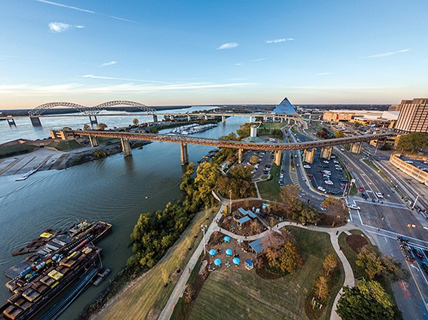 An aerial view of the new River Garden park. - JUSTIN FOX BURKS