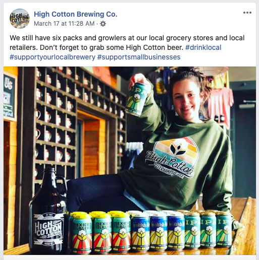 HIGH COTTON BREWING