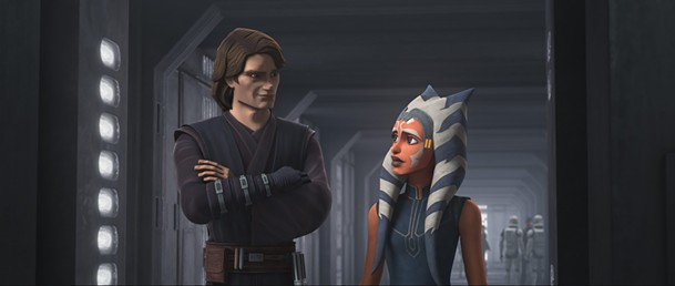 The Clone Wars' version of Aanakin Skywalker (left), voiced by Matt Lanter, is an improvement over the live action version.