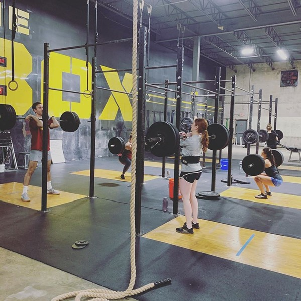 Members workout pre-COVID-19 - FACEBOOK/THE BOX