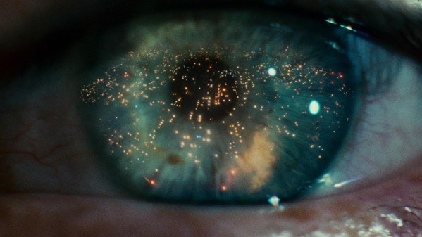 The opening shot of Blade Runner.