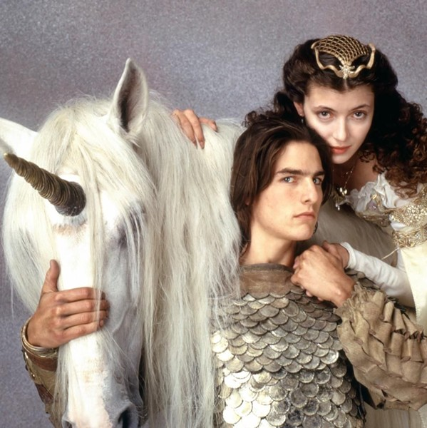 The unicorn co-stars with Tom Cruise, and Mia Sara in Legend.