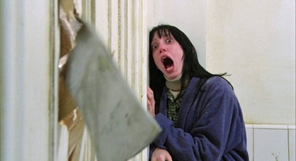 Shelley Duvall takes a bathroom break in The Shining.