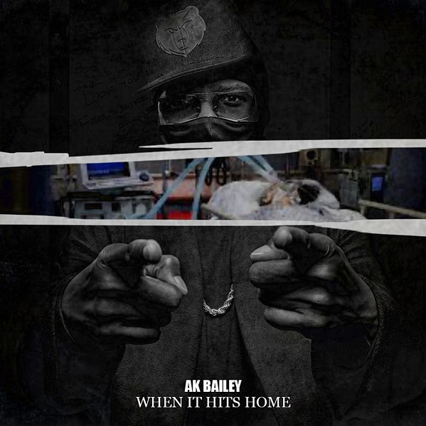 "Kapone's son, Young AJ, designed the cover for Kapone's new single, ""When It Hits Home.' - NATHAN BLACK"