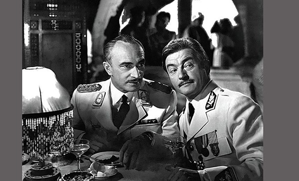Conrad Veidt as Major Strasser and Claude Rains as Captain Louis Renault. Veidt, a refugee from Nazi Germany, made a Hollywood career out of playing villainous Nazis.