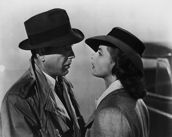 Humphrey Bogart as Rick and Ingrid Bergman as Ilsa in Casablanca