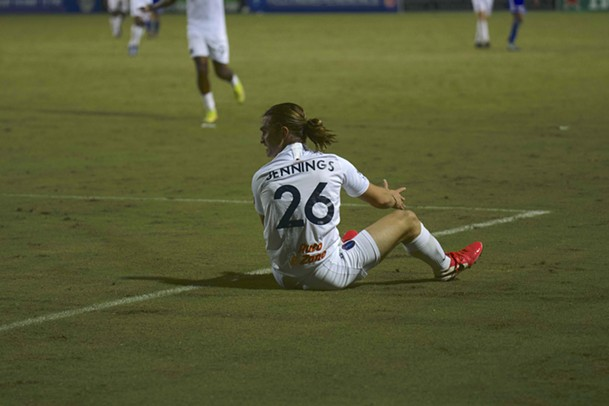 Cal Jennings proved too much for the Charlotte defense to handle during 901 FC's 3-1 win. - 901 FC