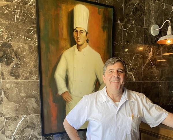 Alex Grisanti at his new Elfo Grisanti's Northern Italian Cuisine - FRANCESCA GRISANTI