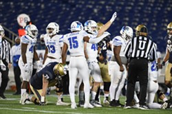 Quindell Johnson and the Memphis defense held firm. - CAROLYN ANDROS