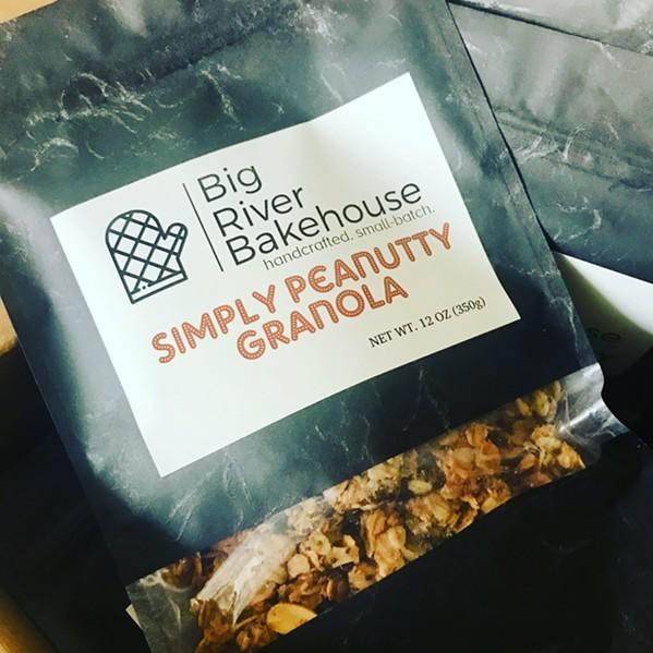Bag of Big River Bakehouse's Simply Peanutty Granola - ANNA TURMAN