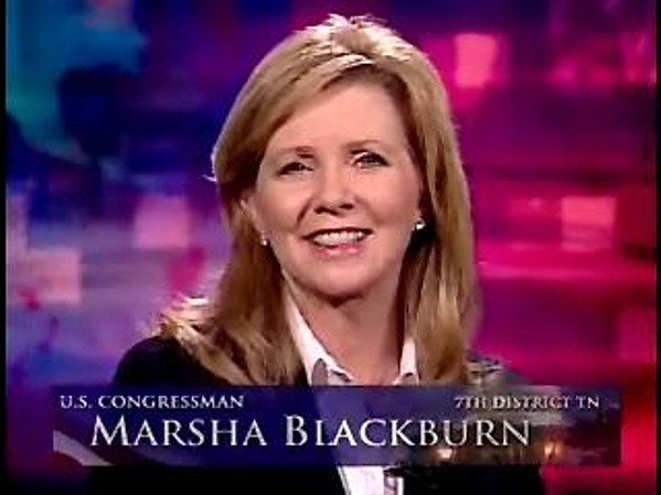 Marsha Blackburn, from her Congressional days. - JACKSON BAKER