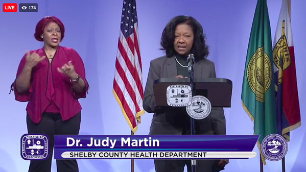Dr. Judy Martin talks about vaccines in Shelby County during Tuesday's briefing of the Memphis and Shelby County COVID-19 Task Force. - SHELBY COUNTY HEALTH DEPARTMENT/FACEBOOK