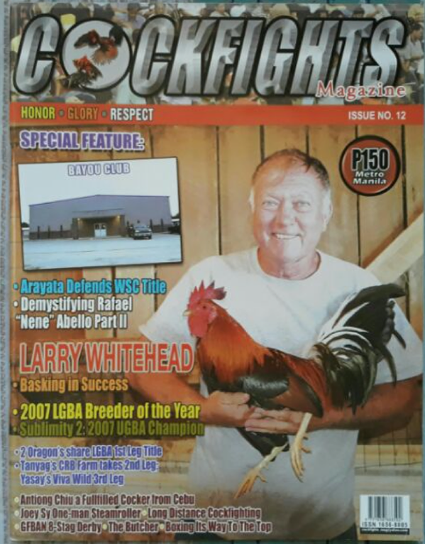 Animal Wellness Action says Tennessee's weak cockfighting laws allow brazen participants to speak publicly about their illegal involvement in it, even appearing on trade magazine covers. - SOURCE: ANIMAL WELLNESS ACTION