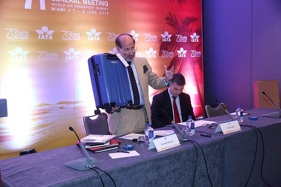 IATA's Thomas Windmuller announces the Cabin OK program in Miami last week. - IATA