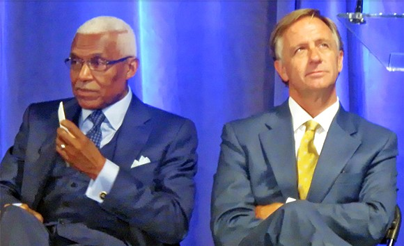 Mayor Wharton and Governor Haslam at Nike ceremony - JB