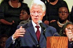 President Clinton delivering eulogy on Saturday - JB