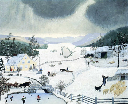 "GRANDMA MOSES, ""WINTER"""