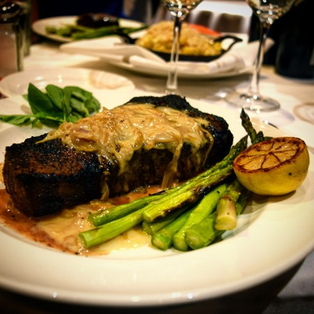 The steak's not bad, either. - JOHN KLYCE MINERVINI