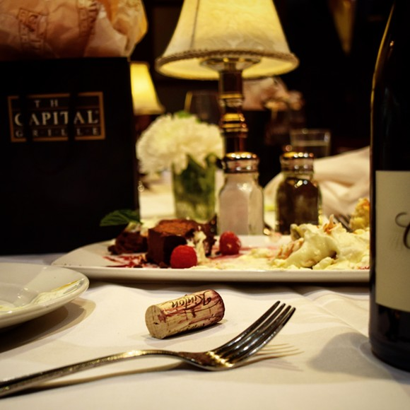Wine goes best with lots of dessert, I find. - JOHN KLYCE MINERVINI