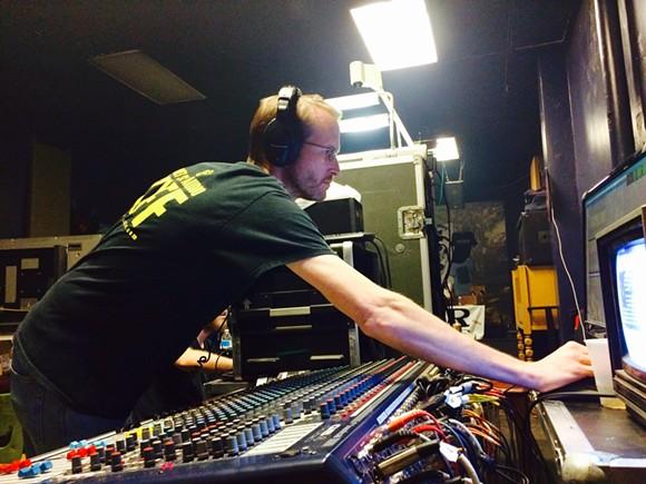Rocket Science Audio's Kyle Johnson at the controls. - CHRIS MCCOY
