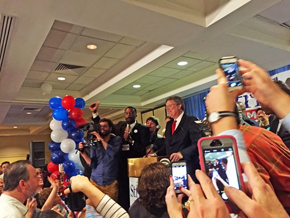 Mayor-Elect Jim Strickland at his victory celebration - TOBY SELLS