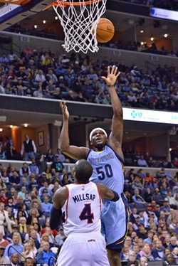 Zach Randolph put up 19 and 13 last night against the Hawks. - LARRY KUZNIEWSKI