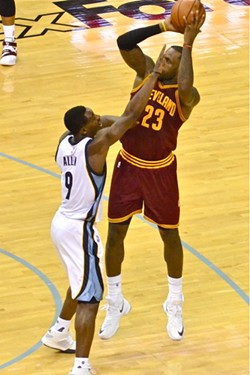 Tony Allen played very good defense on LeBron, but that wasn't enough to matter in the outcome of the game. - LARRY KUZNIEWSKI