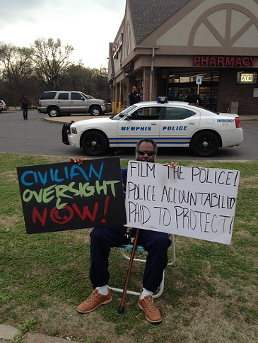 Protesters called for a stronger CLERB in an April protest. - LOUIS GOGGANS