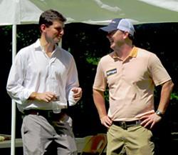 Winner Morgan (l) and Springer at Sidney Chism's political picnic last summer - JB