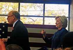 Rep. Cohen and Candidate Clinton at LeMoyne-Owen - JB