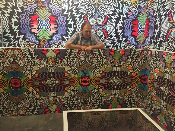 Lance Turner in his studio at Crosstown Arts