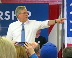 Jeb Bush (like all the governors) is trying to make a point of his administrative know-how while he still can. - JB