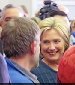Hillary in Henniker, N.H. last week - JB