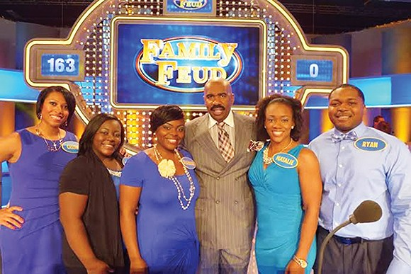 Cassie Ellis (far left) with the Ellis  family
