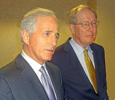 Senators Corker (l) and Alexander - JB