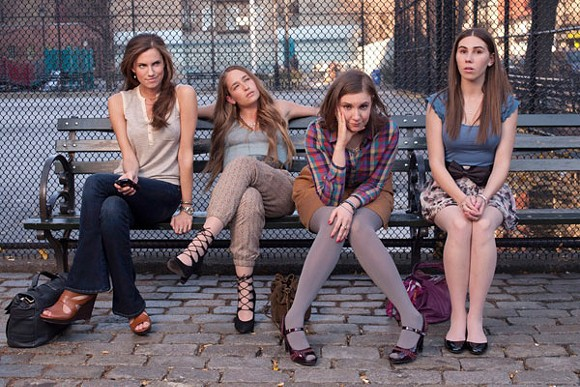 Allison Williams, Jemina Kirke, Lena Dunham, and Zosia Mamet of Girls