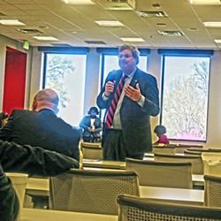 Strickland at Shelby delegation lunch - JB