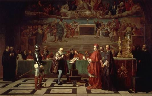 Galileo goes before the inquisition for expanding the Copernican heresy.