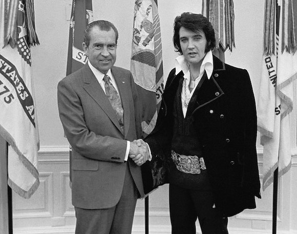 Elvis and Nixon meet in December, 1970