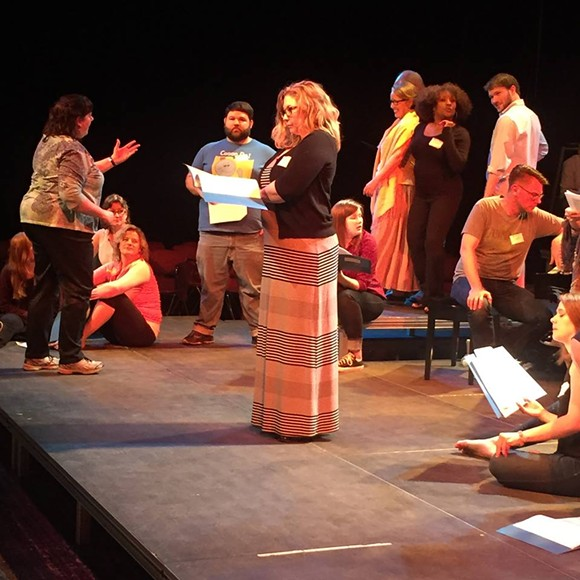 Teresa Morrow Brown directs a cast of 43 Rhodes College theater alumni.