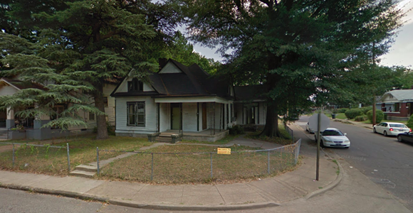 The home at 1370 Mississippi Blvd. was demolished Wednesday morning thanks to the Blight Elimination Project. - GOOGLE MAPS