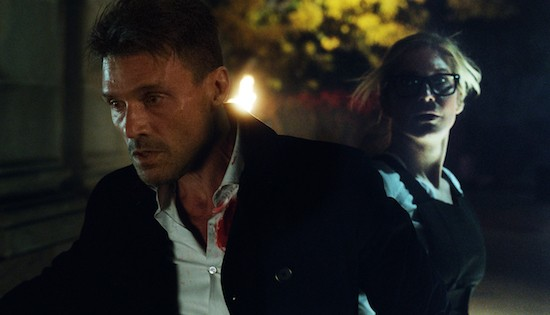 Frank Grillo and Elizabeth Mitchell in The Purge: Election Year.