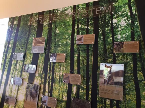 An exhibit inside the T.O. Fuller Interpretive Center