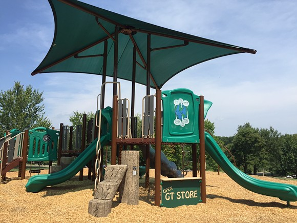 This new playground is located near the T.O. Fuller Interpretive Center.