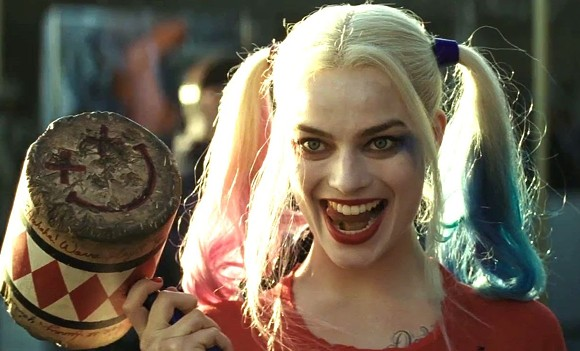 Margot Robbie licks her chops as Harley Quinn. There's scenery to be chewed, boys!